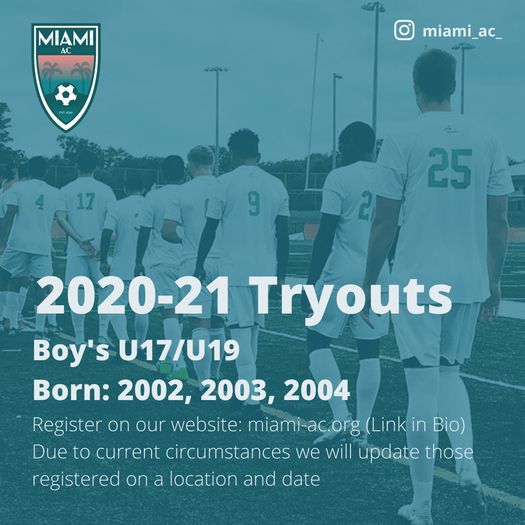 Miami AC 2020-2021 Tryouts